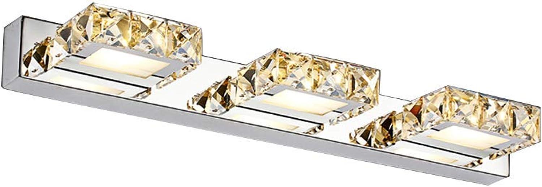 JHNEA für Spiegel Spiegellampe LED Kristall, 9W LED Spiegelleuchte Badleuchte Schminklicht Wasserdicht Spiegellampe für das Make-Up-Rasieren,warm Light_9w46cm 18in
