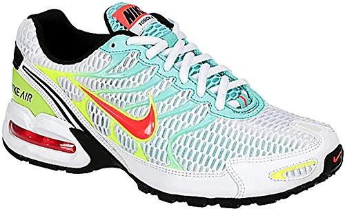 Nike Womens Air Max Torch 4 Running Shoe (8, White/Black-Volt-Laser Crimson)