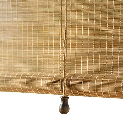 Mr.T/Retro rieten rolluik Bamboe gordijn Rolgordijn Blinds Indoor Outdoor Roller Blind Waterdichte Meldauw Proof Home, Originele ecologische bamboe Size Aanpasbare Houten rolluik