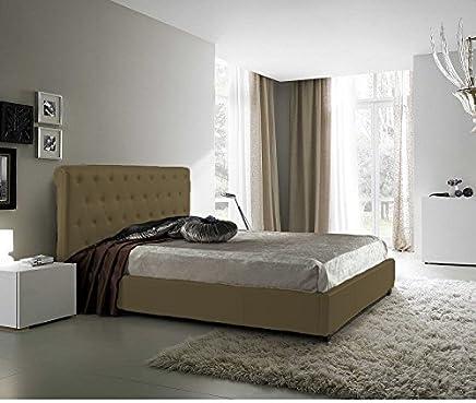 muebles bonitos lit Double Moderne Sofia avec sommier /à Lattes 180x200cm Noir Design Italien /él/égant
