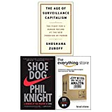 The Age of Surveillance Capitalism [Hardcover], Shoe Dog, The Everything Store 3 Books Collection Set