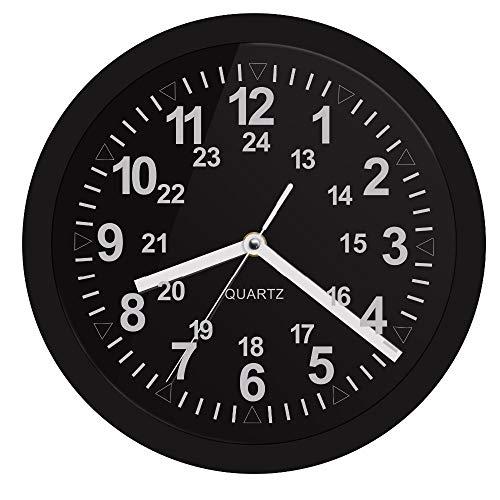 LTOOD Patrón Militar Reloj de Pared Retro con retroiluminación LED Visualización de 24 Horas Zulu Time LED Neon Reloj de Pared Marina de Guerra Marina Temporización Regalo