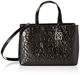 Armani Exchange Damen Liz-Medium Open Shopping Tote, Schwarz (Nero-Black), 16x35x24 cm