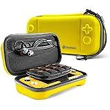 tomtoc Nintendo Switch Lite 便攜包 大容量 收納盒、游戲卡24張 收納小物件、全面保護 耐沖擊、黃色