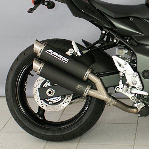 Auspuff Bodis GPC-X2 Slip-On-Satz 4-2 Edelstahl schwarz Z 750 ZR750L ABS R ZR750N ZR750P