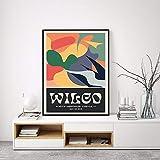 zuomo Wilco Gig Poster Klassische Wandkunst Vintage Bunte