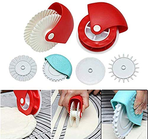 Pastry Wheel Cutter fundeal Pastry Wheel Decorator Beautiful Pie Crust Pastry Lattice Decoration Tools for Pies Pasta Puff Pastry or Fondant