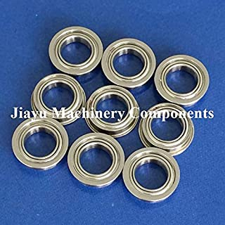 Fevas 50 PCS SMF117ZZ Flanged Bearings 7x11x3 mm Stainless Steel Flange Ball Bearings DDLF-1170ZZ