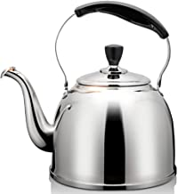 ANXI Tea Kettle for Gas Stove Stainless Steel Metal Kettles with Anti-Slip Anti-hot Handle for Induction Cooker Natural Gas Teapot