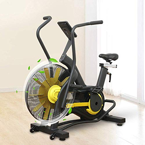 WGFGXQ Bicicleta estática con Ventilador con Resistencia ilimitada, Bicicleta de Ciclismo para Interiores, Bicicleta estática, sillín Ajustable, Pantalla LCD, máquina de Cardio, Bicicleta de Fitnes