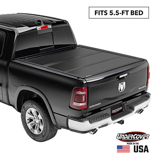 Undercover Ultra Flex Hard Folding Truck Bed Tonneau Cover | UX42008 | Fits 2007 - 2021 Toyota Tundra w/ rail system 5' 7' Bed (66.7')