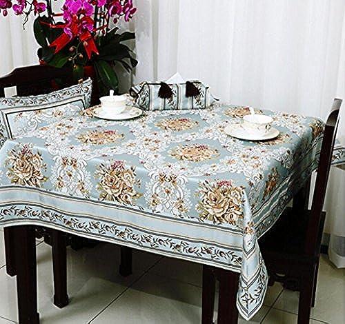 Tischtuch Europ che Luxus dicken Tischdecke Tischdecke Tee Tischdecke Runde Tischdecke Jacquard 90  90cm  -150  220cm   Tischsets (Farbe   A1, Größe   150  15cm)