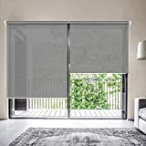 ZY Blinds Solar Window Shades, Upgrade Light Filtering UV Protection Flame Retardant Water