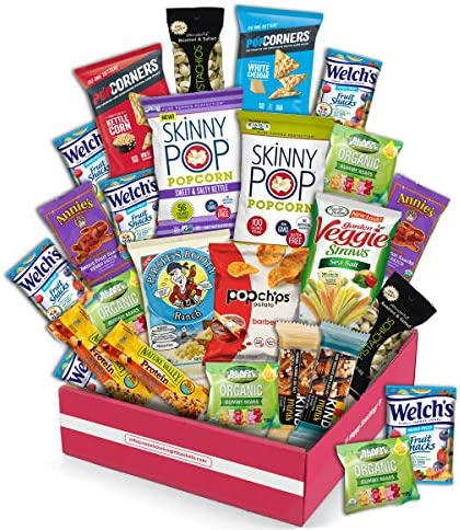 Snack Box Gluten Free Healthy Snacks Care Package 20 Count for College Students Exams Father product image