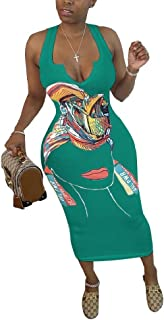 Winwinus Womens Bodycon Sleeveless Slim Sexy Tank Top Long Maxi Dress