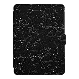Fintie SlimShell Funda para Kindle Paperwhite - La Más Delgada y Ligera Carcasa de Cuero Sintético con Función de Auto-Reposo/Activación (No se Adapta a 10.ª generación 2018), Constelación