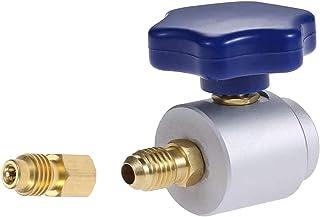Wisepick Adattatore rapido Collegamento Laterale Alto e Basso Regolabile Collegamento dellaccoppiatore rapido R134a a R1234yf , Kit di conversione da R134a a R1234yf per refrigerante AC