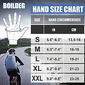 boildeg Guantes de Ciclismo,Guantes MTB,Antideslizante Pantalla Táctil,Tela Transpirable,Adecuado para Ciclismo de Montaña,Todo el Vehículo de Terreno,Bicicleta de Montaña (Negro, L)