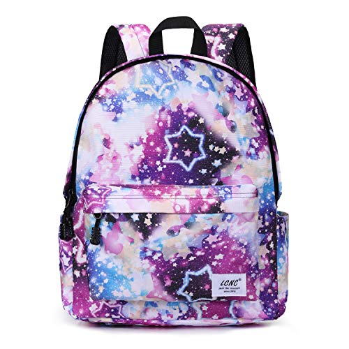School backpack for Girls BoysGalaxy Water Resistant Durable Casual Basic Bookbag for Students