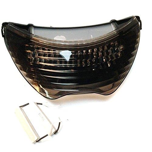 Foco trasero marca HTT GROUP, para motocicleta, con luz led color humo y señaleros y luces de frenos incorporados, para: Honda 99-00, CBR 600 F4/04-06, Honda CBE600 F41