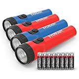 Eveready 4-Pack LED Flashlight Multi-Pack, Bright and Durable, Super Long Battery Life, Use for Emergencies, Camping, Outdoor, Batteries Included