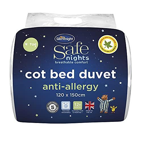 Silentnight Safe Nights Cot Bed 4 Tog Duvet - Anti Allergy Lightweight Soft Snug Nursery Quilt For Children Toddler Kids Newborn Baby Babies - Hypoallergenic Machine Washable Duvets Baby Shower Gifts