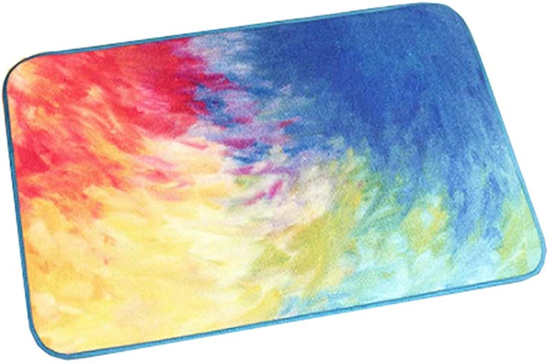 Door mat,Entrance Door mats Non Slip Door mat Household Modern Area Rug Durable Carpet Low Profile Door mats-colorful 50x80cm(20x31inch)