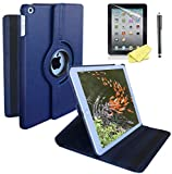 iPad Case Cover Rotating Stand with Wake Up/Sleep Function for Apple ipad 2nd 3rd 4th Generation Model A1395 A1396 A1397 A1416 A1430 A1403 A1458 A1460 or A1459 (Navy Blue)