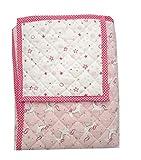 Pack Alfombra para Gatear Infantil + Cesto para Juguetes (Manta para bebé de 150 x 120 cm; Ideal como Colcha Apta como Alfombra de Juegos) (Rosa)