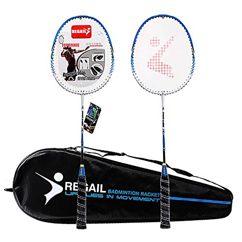 Buy Metal Baking Paint Badminton Racket Family Shock Absorption Two Tone Beat