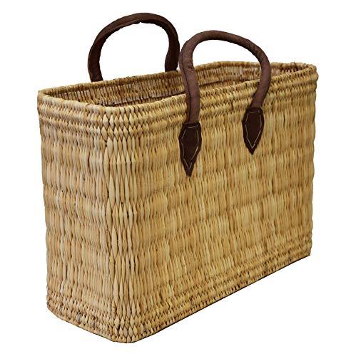 Simandra Seegras Tasche Korb Einkaufstasche Einkaufskorb Flechtkorb Korbtasche Palmgras kurzer Griff klein Color Natur