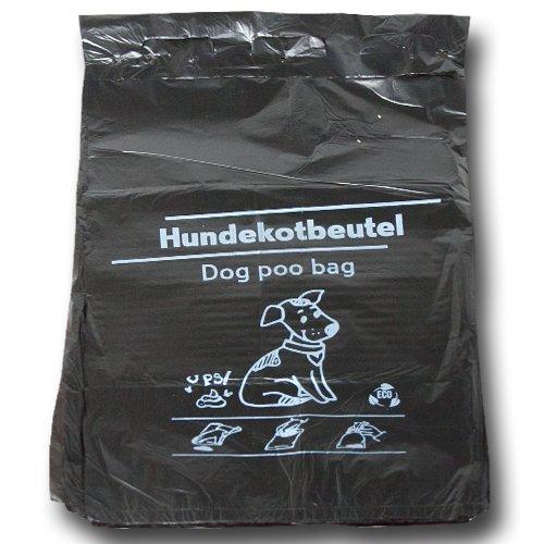 1000 Stück Hundekotbeutel 21x32+3,5 cm - zu 100 Stück geblockt - Der Umwelt zuliebe aus 100% Recycling Material!