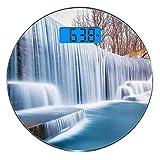 Escala digital de peso corporal de precisión Ronda Cascada Báscula de baño de...