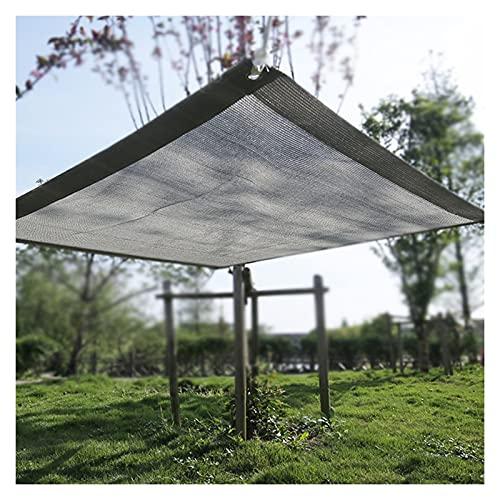 AYLYHD Balcón Privacidad con Ojales Cuerdas para Balcón Exterior De Jardín Lona De Ocultación, Pantallas Protectoras Rectangular (Color : Gray, Size : 3x6m)
