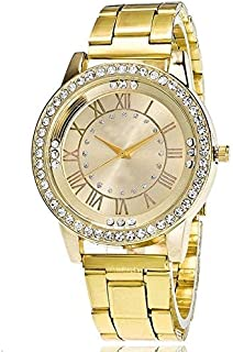 Beautiful Watches, 2 PCS Stainless Steel Wrist Watchs Crystal Quartz Bracelet Watch