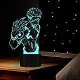 Jujutsu Kaisen luz 3D lámpara de ilusión LED noche acrílico anime Jujutsu Kaisen figura para la decoración de la habitación de los niños lámpara de mesa lámpara de sueño infantil