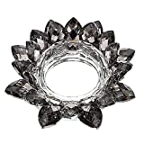 OwnMy Crystal Lotus Flower Candle Holder for Pillar Candle up to 3