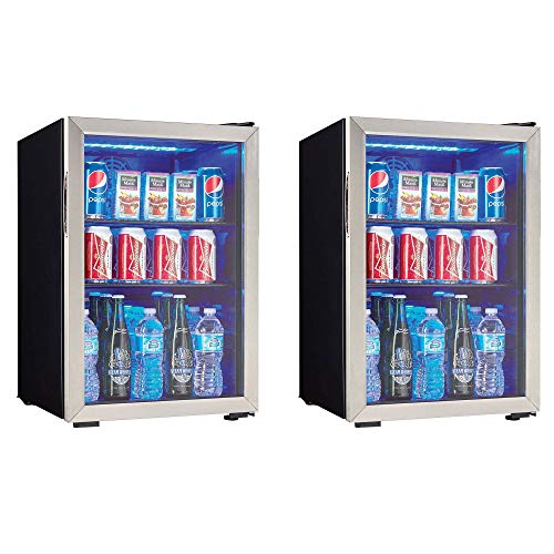 Danby 95 Can 2.6 Cu. Ft. Free Standing Beverage Center, Stainless Steel (2 Pack)