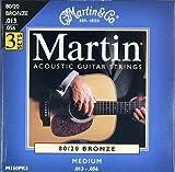 Martin M150PK3 - Juego de cuerdas para guitarra acústica de bronce.011-.052