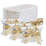 TsunNee - Caja de papel de regalo para bodas, caja de regalo de papel kraft Style 1