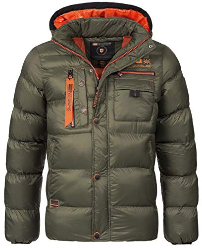 Geographical Norway heren gewatteerde winterjas Citernier capuchon