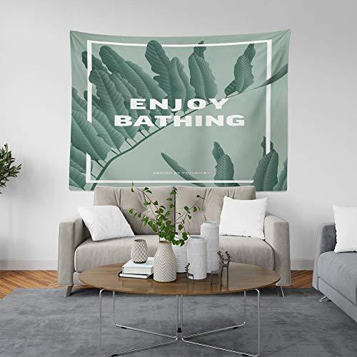 WERT Planta de Estilo Simple Tapiz Blanco Colgante de Pared Manta de Arte Sala de Estar Dormitorio Dormitorio Decoración del hogar Mantel Picnic Toalla de Playa A11 95x73cm