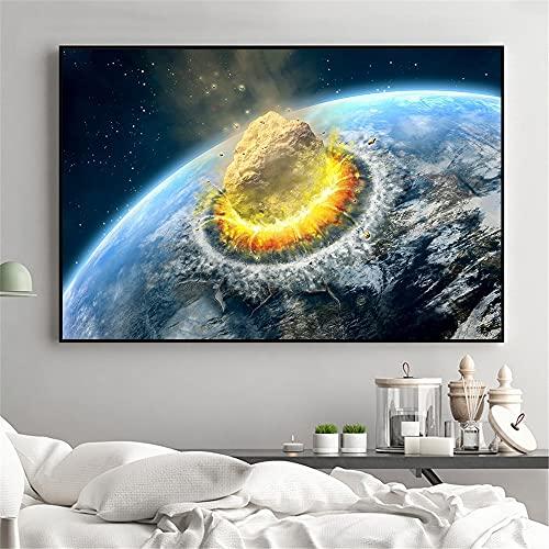 Xykhlj para adultospintura por numeros - Aviador Planeta Espacio Universo Tierra - Lienzo preimpreso - Principiantes para Niños y Adultos - Pinturas Decoraciones para el Hogar - 30x50cm - Sin Marco