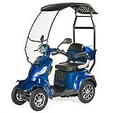 VELECO Scooter Elettrico Con un tetto 4 Ruote Disabili, Anziani 25km/h 1000W FASTER (Blu)