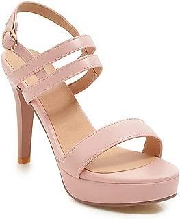 BalaMasa Womens ASL06214 Pu Platforms Sandals