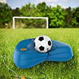 Hey! Play! Soccer Rebounder-Reflex Training Set with Fillable Weighted Base, and Ball with Adjustable String Attached-Kids Sport Practice Equipment