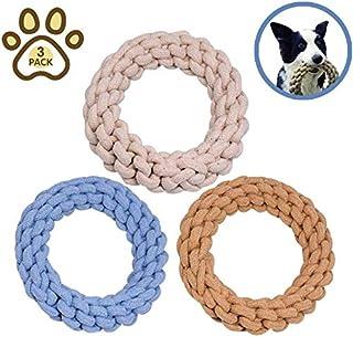 犬おもちゃ 犬ロープ おもちゃ 噛むおもちゃ,天然コットン 安全清潔 歯磨,歯ぐきをマッサージ,中型および大型犬に適しています(3個パック)