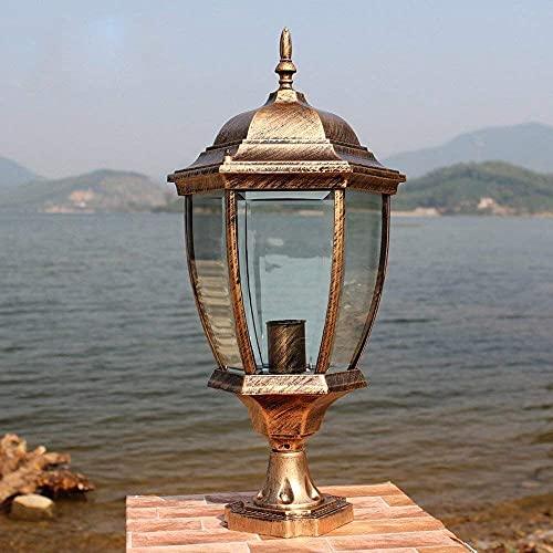 BUNUMO Luz de Poste de luz de Pilar Luz de Poste de Villa al Aire Libre Lámpara de Columna de Pilar de Aluminio a Prueba de óxido Luces de Camino de jardín de pabellón Iluminación de Aplique de par