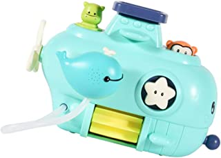TOYANDONA Baby Bath Toys Wall Bathtub Toys for Toddlers Kids Bathroom Playset Whale Waterfall Station Sprinkle Water Toys ...