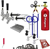 Kegco EBDHCK2-5T Deluxe Homebrew Two Tap Door Mount Kegerator Conversion Kit with 5 lb. Aluminum CO2 Tank